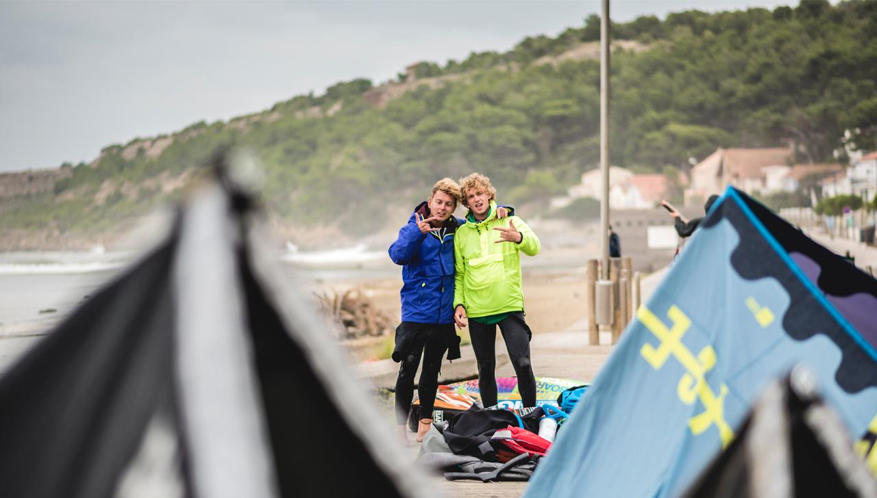 kitesurfing hel - Ernest i Marek